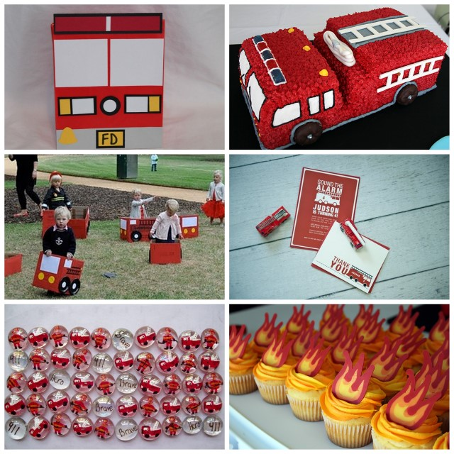 Fire Truck Party Inspiration Board – Fire Engine Party Invitations