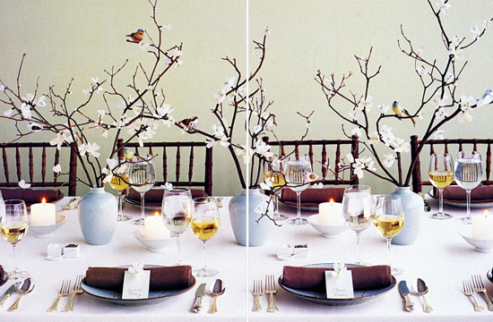 Inspiration board modern hostess for Bird decorations for home
